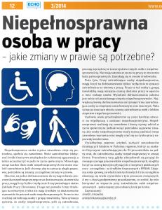 niepelnosprawna osoba w pracy - artykul issuu
